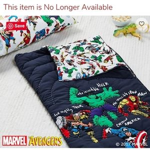Pottery Barn Kids Marvel Avengers Sleeping Bag EUC